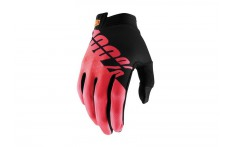 100% ITrack Glove Black/Fluo Red
